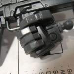 The hand provides a very good grip on the Gundam's beam rifle...