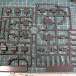 View of the parts on the sprues